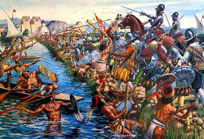 В 1521 году Теночтитлан был захвачен конкистадорами из Испании / Фото: pinterest.ru