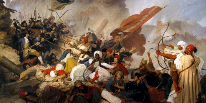 Османы же оставались верны военной тактике периода «золотого века», соответственно, ничего из вышеперечисленного они не имели / Фото: bagira.guru