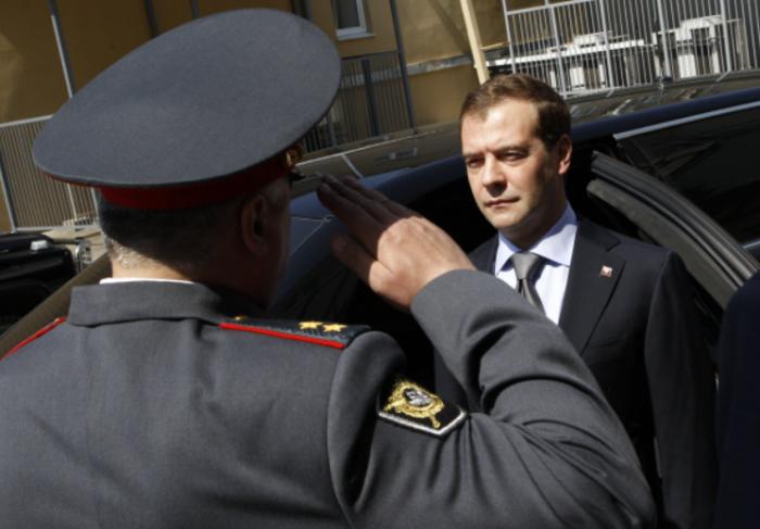 Инициатором переименования милиции в полицию стал Д. Медведев, занимавший тогда пост Президента страны / Фото: visualrian.ru