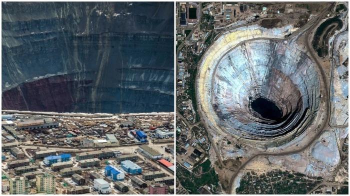 Как город в Якутии живет на краю пропасти: дыра, которая видна из космоса