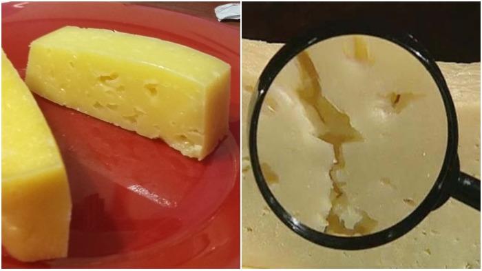 Сырный продукт под воздействием солнечных лучей твердеет и крошится / Фото: zn.ua