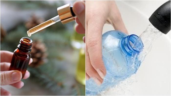Необходимо добавить масло в воду и налить в бутылку, тщательно перемешав / Фото: shkolazhizni.ru