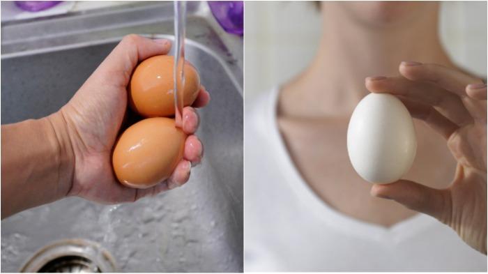 Вода разрушает защитную пленку яиц, поэтому мыть их не рекомендуется / Фото: russkie-perepela.ru