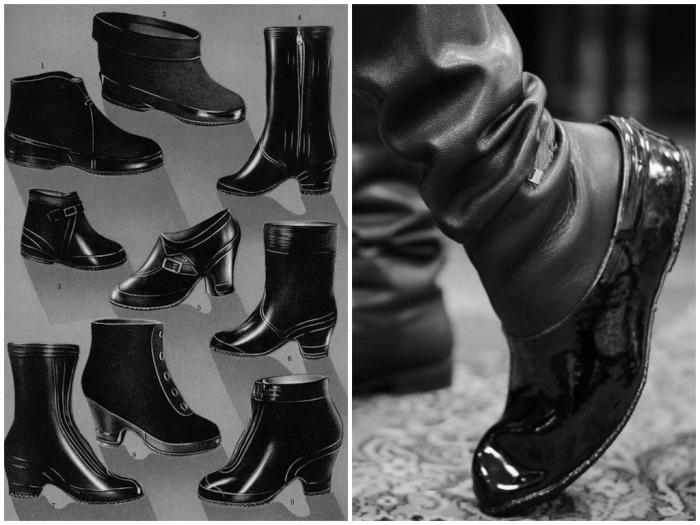 Галоши практически всегда надевали на другую обувь, например, туфли, ботинки, поэтому обувь оставалась чистой / Фото: news.21.by