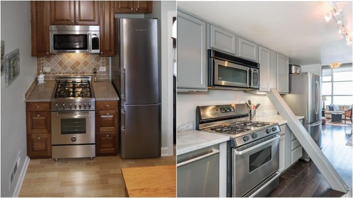 Некорректная планировка кухни приводит к тому, что холодильник приходится ставить возле плиты или выносить его в коридор / Фото: severdv.ru
