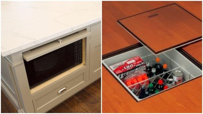 Ящики для хранения продуктов и кухонной утвари японцы делают в полу / Фото: tr.pinterest.com