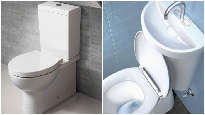 Существенно сэкономить на оплате за воду поможет раковина, встроенная в бачок унитаза / Фото: poradu24.com