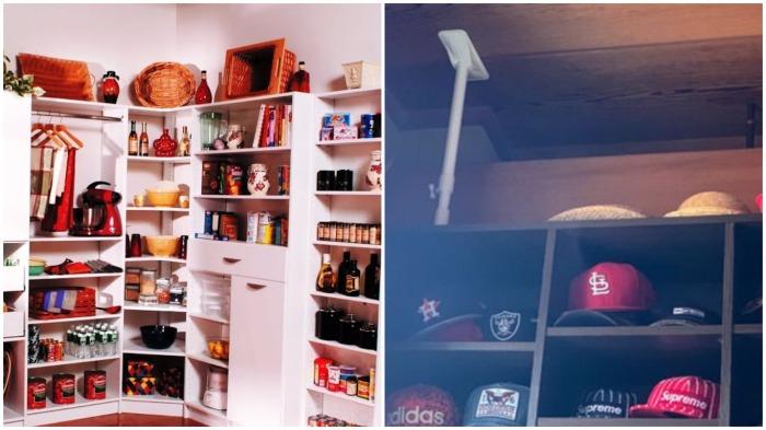 Чтобы шкаф или холодильник не упали во время землетрясения, их фиксируют специальными подпорками / Фото: youtube.com