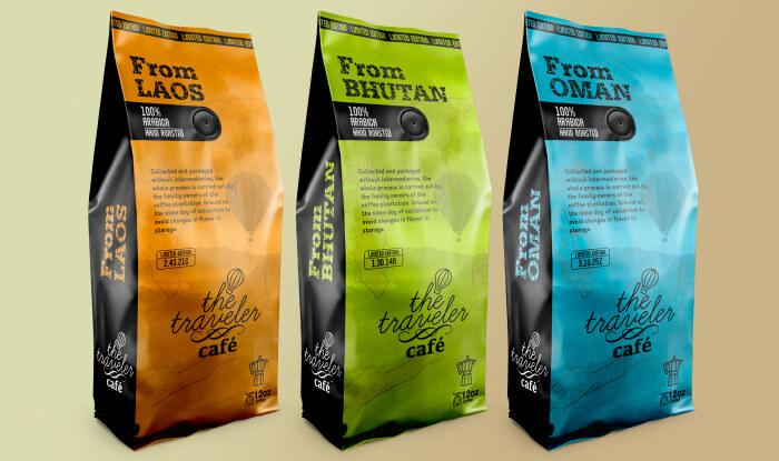 Даже при наличии дегазационного клапана на упаковке с зернами рекомендуется после вскрытия пересыпать кофе в герметичную тару / Фото: behance.net