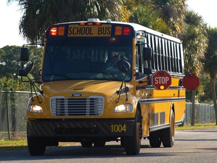 Каждый школьный автобус оборудован специальной сигнальной системой / Фото: drive2.com