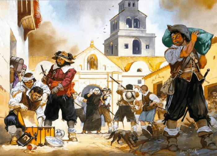 Несмотря на столь неблагоприятные условия, пираты старались по максимуму загрузить трюмы продуктами питания / Фото: forum-ru.101xp.com