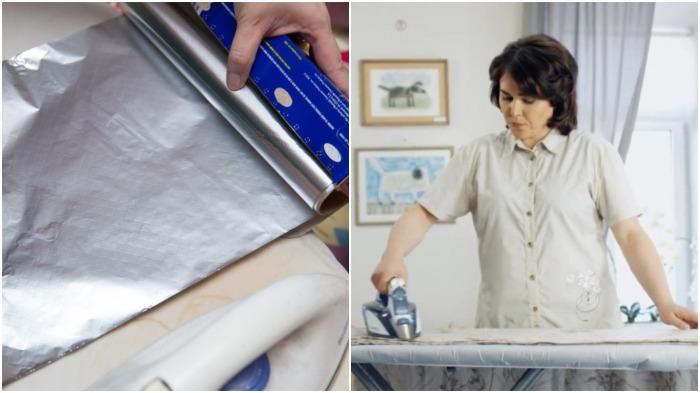 Подложенная под белье фольга сократит время глажки вдвое / Фото: news.myseldon.com