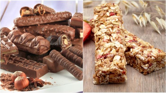 Чувство голода от шоколадных батончиков быстро уходит, а пользы нет никакой, тем более в утренние часы / Фото: producttom.ru