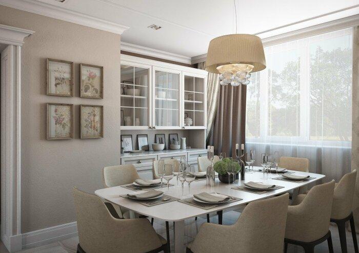 Вместо столовой можно сделать кухню чуть побольше и поместить в ней все необходимое для комфортного приема пищи / Фото: mykaleidoscope.ru