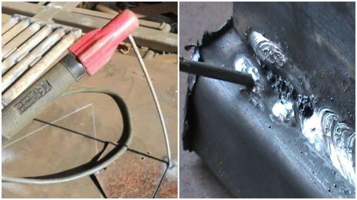 При некорректном начале сварки электрод может прихватиться или металл прилипнет только к одной из деталей / Фото: yandex.ru