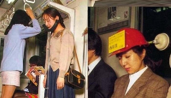 Японцы - неисправимые трудоголики, поэтому стараются вздремнуть при первой же возможности и не самым обычным способом / Фото: yandex.ua