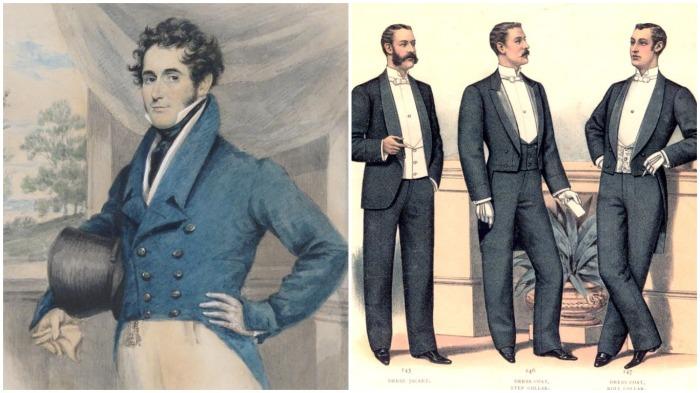 В 19 веке стали носить фраки как на выход, так и в повседневной жизни / Фото: pinterest.ru