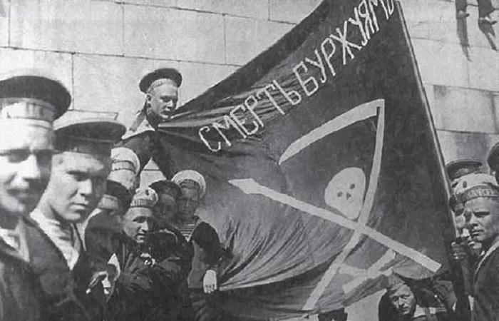 Моряки с флагом самопровозглашенной республики / Фото: zefirka.net