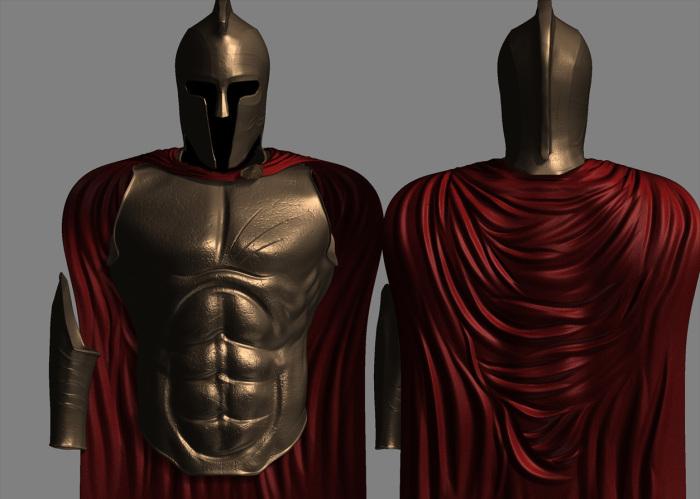 Внешний вид доспеха изменили, и воины все как один стали мускулистыми за счет металлической защиты / Фото: moddb.com