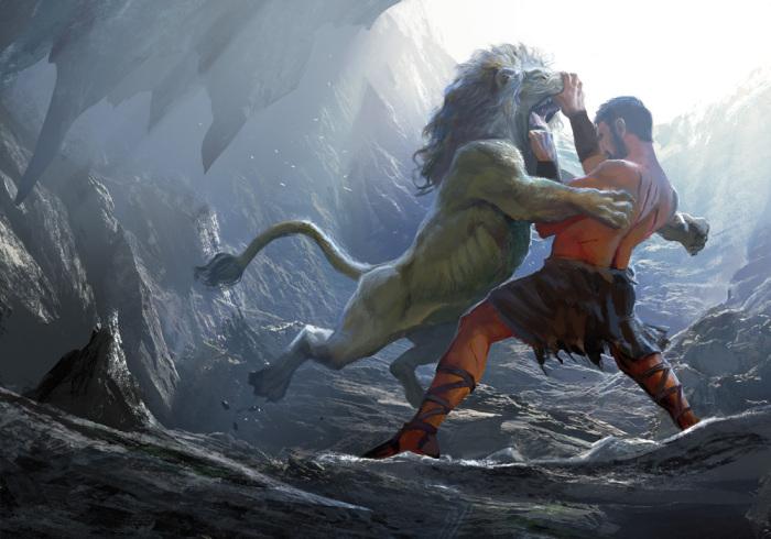 Геракл, чтобы обеспечить себе надежную защиту, задействовал шкуру, снятую с Немейского льва / Фото: newyou-style.ru