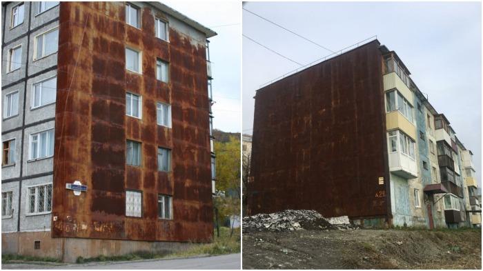 На Камчатке ржавчина на многоэтажках возникает вследствие местных климатических условий / Фото: tema.ru