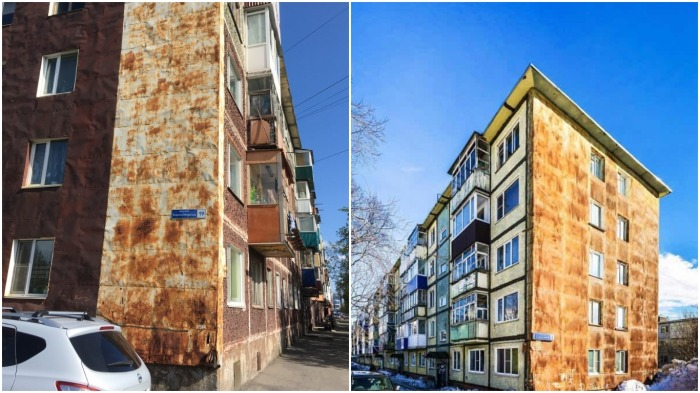 Несмотря на появившиеся новые варианты обшивки, многие дома на Камчатке все еще не отреставрированы / Фото: bazatut.ru
