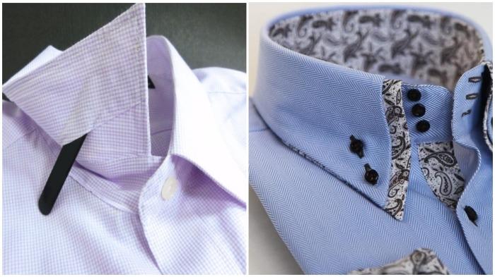 В сорочках воротник более жесткий, чем в рубашках / Фото: wildberries.ru