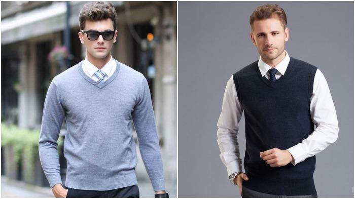 В современном мире на сорочку в обязательном порядке сверху надевают жилет, пиджак, свитер или джемпер / Фото: livemaster.ru