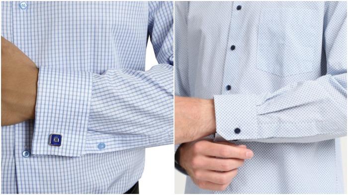 В сорочках манжеты застегиваются при помощи пуговиц либо запонок, тогда как в рубашках применяется первый вариант / Фото: pazarfiyat.shop