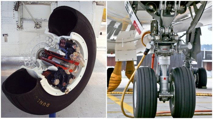 В большинстве своем в самолетной шине камеры нет, внутрь закачивается специальный технический азот / Фото: diman7777.livejournal.com