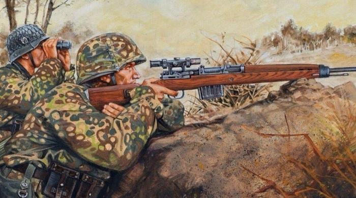 Зачем во время Второй мировой войны к спусковому крючку немецких снайперских винтовок приваривали шип.