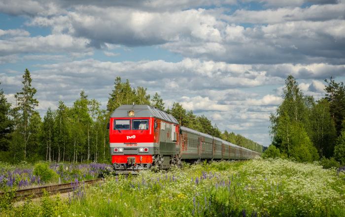 На больших локомотивах устанавливаются спецсистемы для подачи песка под колеса. / Фото: trainpix.org