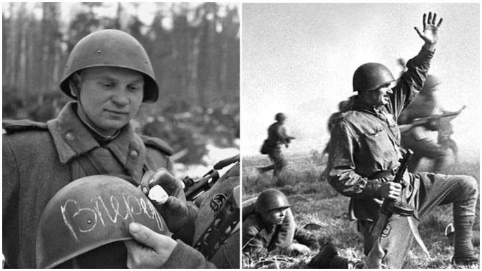 Толщина полосы уязвимости в советских касках составляла 9 мм, в немецких - 6-7 мм / Фото: liveinternet.ru