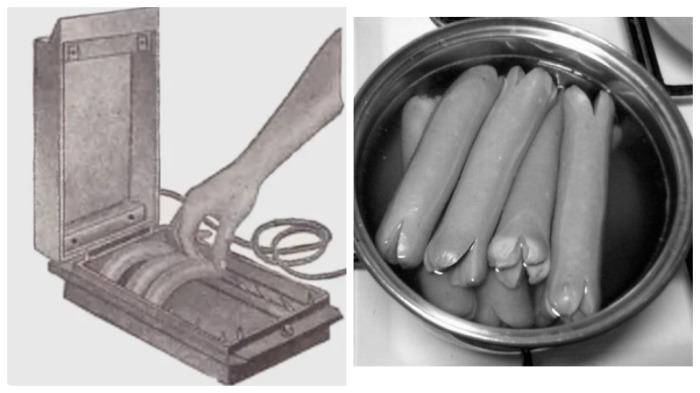 Приготовленные в сосисковарке, а не сваренные в воде, колбасные изделия были полезнее / Фото: twitter.com