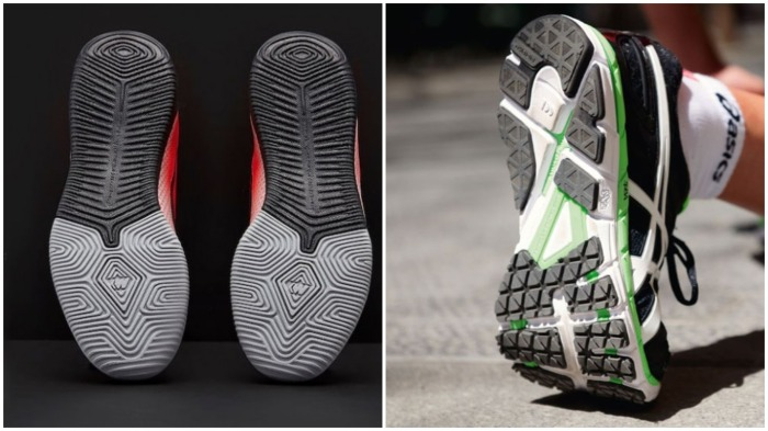Лучше покупать изделия, где подметка закрывает всю подошву кроссовок, она намного прочнее и будет носиться гораздо дольше / Фото: franchisesamerica.com