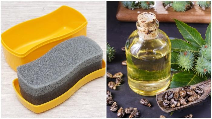 Касторовое масло, в отличие от обычных губок для обуви, поможет определить, из какого материала изготовлена обувь / Фото: optomoll.ru