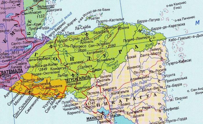 Почему, если мы хотим поругать, покритиковать государство, часто используем именно название Гондурас / Фото: geo.koltyrin.ru