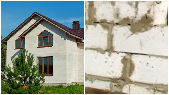 Проблемы у владельцев дома могут возникнуть в случае, если была нарушена технология монтажа газобетона / Фото: stroyera.com