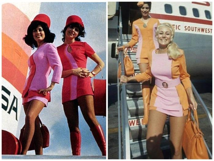 У каждой авиакомпании в 1960-х годах была своя униформа / Фото: yandex.ua