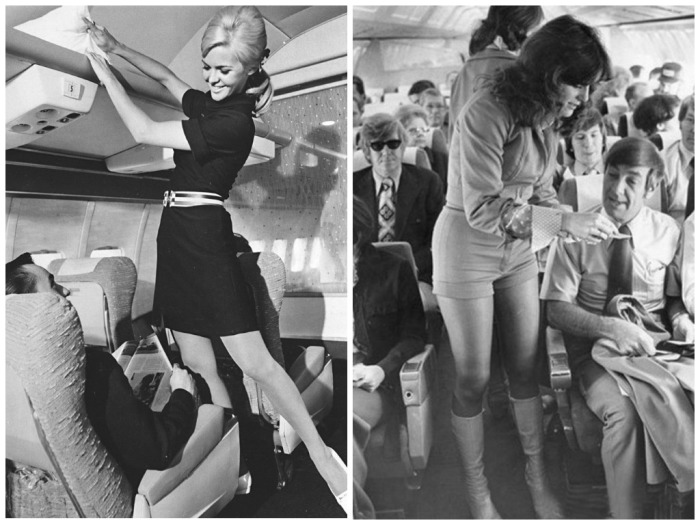 Скромность не была отличительной чертой в одежде стюардесс того периода / Фото: nevsedoma.com.ua