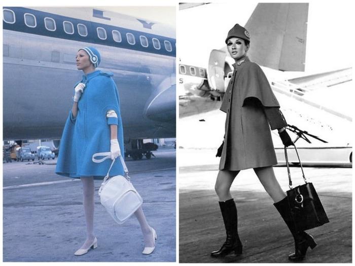 Пьер Карден разработал элегантные накидки для стюардесс / Фото: harpersbazaar.kz