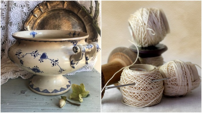Супница - идеальное место для хранения всякой мелочевки / Фото: lotsearch.net