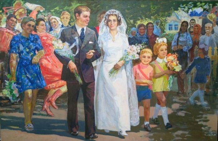 Независимо от выбранного направления, советские свадьбы всегда проходили шумно и весело / Фото: oknasocrealisma.com