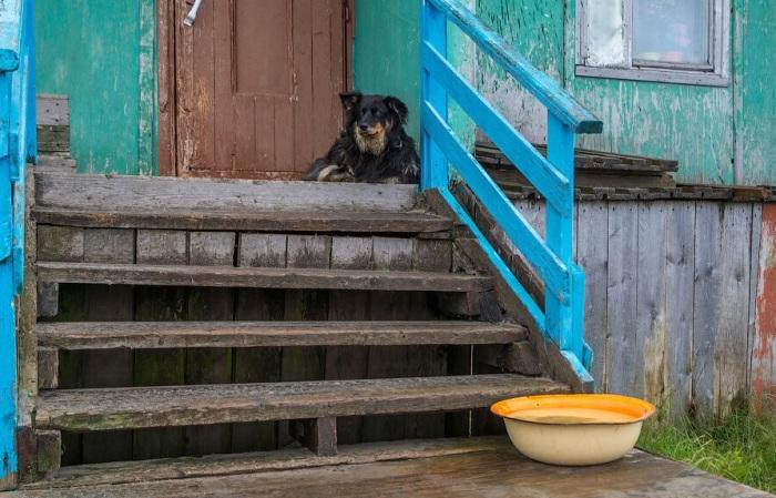Перед тем, как входить в свои жилища, люди ополаскивают обувь в тазу, при необходимости используют ершики / Фото: yandex.ru