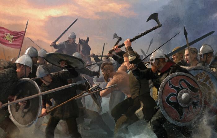 Форма топорика была выбрана неслучайно, благодаря ей викинг мог оттянуть щит врага на себя, чтобы нанести удар / Фото: artstation.com