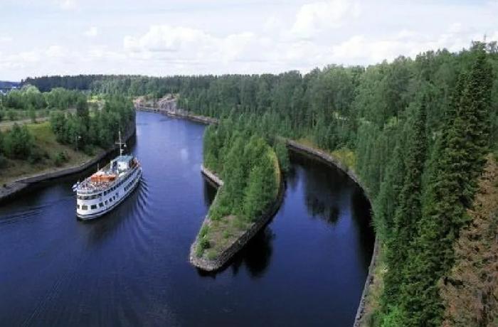 Сайменский канал, сооруженный в 1856 г. в Финляндии / Фото: pastvu.com