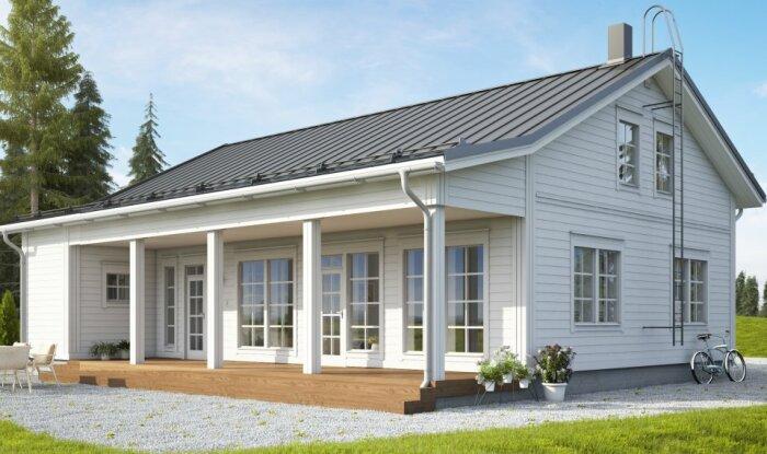 Спокойным и уравновешенным финнам по душе больше пришелся белый или светло-серый цвет фасада / Фото: финскийдомик.рф