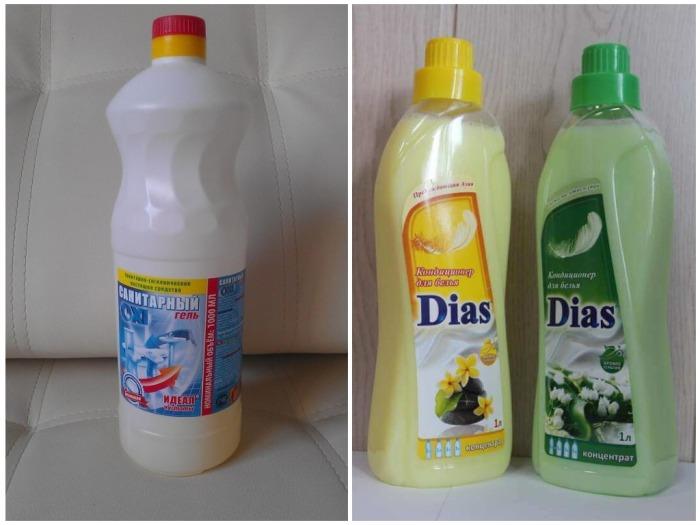 Для наполнителя необходимо взять санитарный гель и кондиционер для белья / Фото: akva-tk.ru