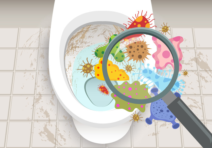 Запах в унитазе появляется в результате размножения бактерий / Фото: sm-news.ru