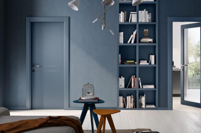 Выкрасьте дверь в цвет стены или сделайте на всей поверхности геометрический рисунок / Фото: garofoli.com